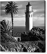 Lighthouse On The Bluff Canvas Print