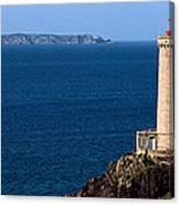Lighthouse On The Coast, Phare Du Petit Canvas Print