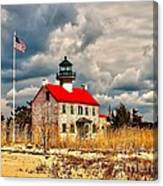 Lighthouse On The Delaware Canvas Print