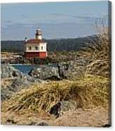 Lighthouse Over The Dunes Canvas Print