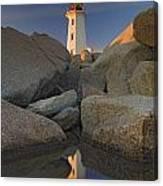Lighthouse, Peggys Cove, Nova Scotia Canvas Print