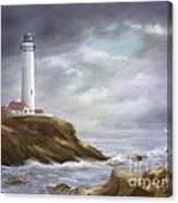 Lighthouse Stormy Sky Seascape Canvas Print