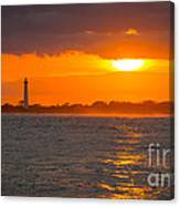 Lighthouse Sun Reflections Canvas Print