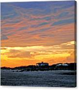 Lighthouse Sunset By Jan Marvin Canvas Print
