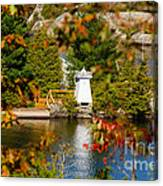Lighthouse Through The Leaves Canvas Print