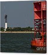 Lighthouse To Buoy Canvas Print