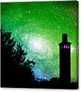 Lighthouse Under The Stars Xii Canvas Print