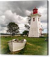 Lighthouse Victoria By The Sea Pei Canvas Print