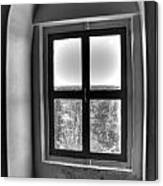 Lighthouse Window At Point Iroquois Canvas Print