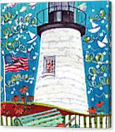 Lighthouse With Music Canvas Print