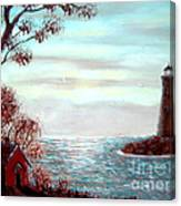 Lighthousekeepers Home Canvas Print