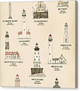 Lighthouses Of The Great Lakes Canvas Print
