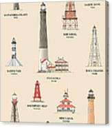 Lighthouses Of The Gulf Coast Canvas Print