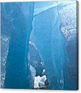 Lighting In Nigardsbreen Glacier Grotto 1 Canvas Print