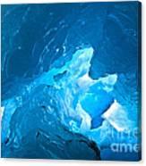 Lighting In Nigardsbreen Glacier Grotto 3 Canvas Print