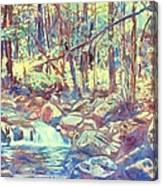 Lighting The Creek Canvas Print