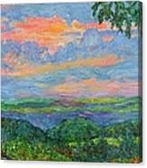 Lighting The Ridge Canvas Print