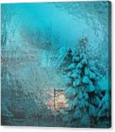 Lighting The Way Through A Frosted Dream Canvas Print