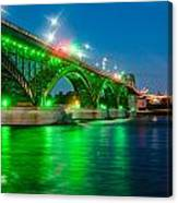 Lighting Up The Waters Of The Niagara River Canvas Print