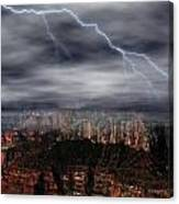 Lightning - North Rim Of Grand Canyon Canvas Print