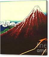 Lightning Below Red Fuji 1826 Canvas Print