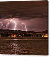 Lightning Over Lake Loveland Canvas Print