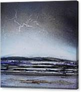 Lightning Storm Druridge Bay 1 Canvas Print
