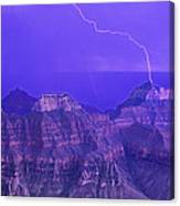 Lightning Storm North Rim Grand Canyon National Park Arizona Canvas Print