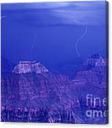 Lightning Strkes At The North Rim Grand Canyon National Park Canvas Print