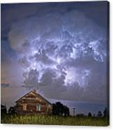 Lightning Thunderstorm Busting Out Canvas Print