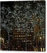 Lights In Rockefeller Center Canvas Print
