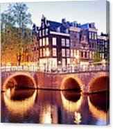 Lights Of Amsterdam Canvas Print