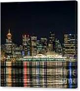 Lights Of Vancouver Canvas Print