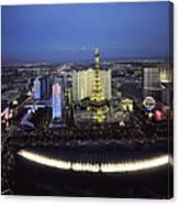 Lights Of Vegas Canvas Print