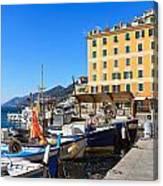 Liguria - Harbor In Camogli Canvas Print