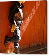 Lil Cowboy In Sun Canvas Print
