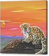 Lil' Leopard Canvas Print