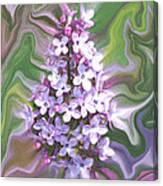 Lilac Abstract Canvas Print