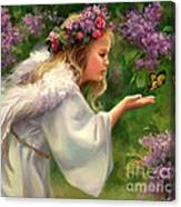 Lilac Angel Canvas Print