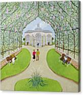 Lilac Arbour Oil On Board Canvas Print