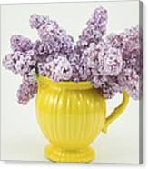 Lilac Boquet - Yellow Vase Canvas Print