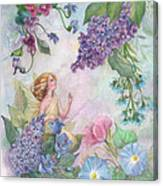 Lilac Enchanting Flower Fairy Canvas Print