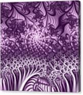 Lilac Fractal World Canvas Print