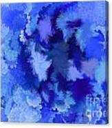 Lilac Of The Valley Blue White Canvas Print