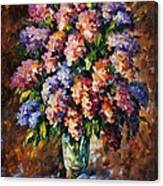 Lilac - Palette Knife Oil Painting On Canvas By Leonid Afremov Canvas Print