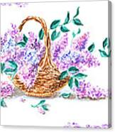 Lilac Vintage Impressionism Painting Canvas Print