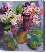 Lilacs And Pears Canvas Print