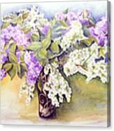 Lilacs Bouquet Canvas Print