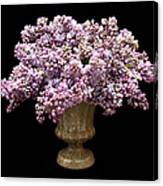 Lilacs In A Green Vase - Flowers - Spring Bouquet Canvas Print