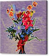 Lilies And Orchids Topaz II Canvas Print